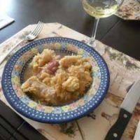 sauerkraut with kielbasa and wine